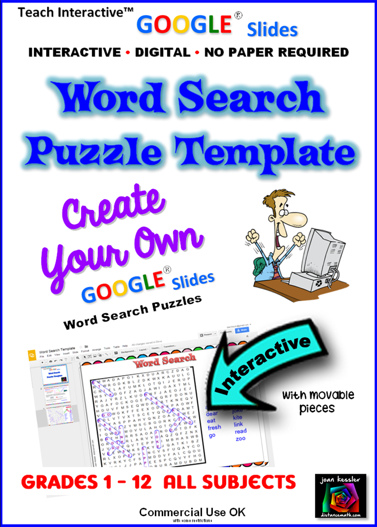 GOOGLE Interactive Word Search Puzzle Template Google