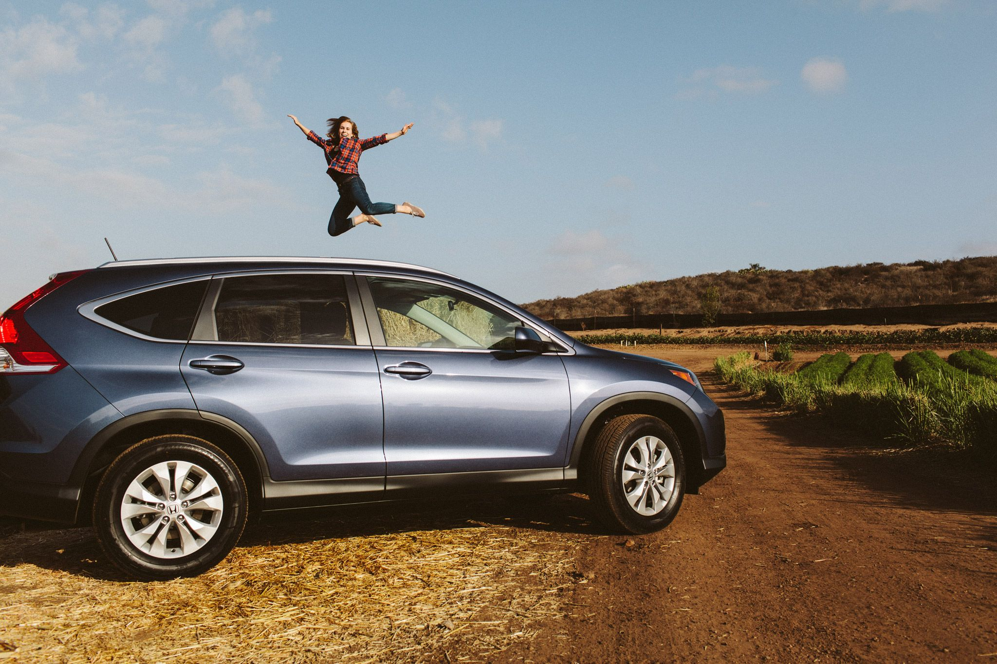 Jumping for joy with the CRV. Outdoors Honda, Honda cr