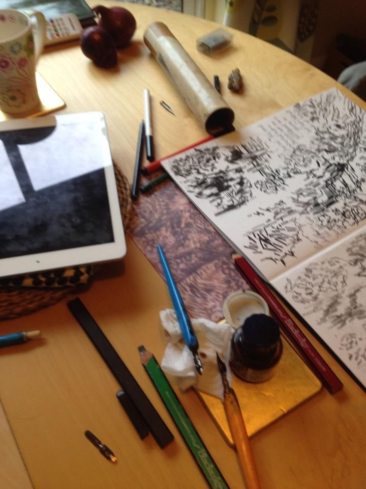 Pen & ink is a wonderfully expressive medium. Drawing tutor , Denise, can give you a simple demonstration where you can work over a pencil drawing or develop your skills by learning the language of mark making using Van Gogh's techniques.
