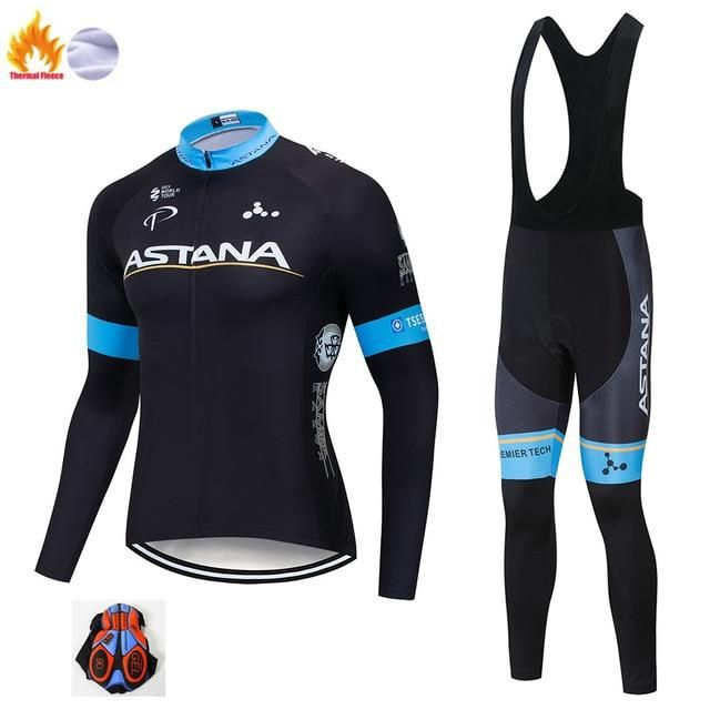 2019 new team Long sleeve Cycling Bike Racing Jersey Bib Pants Sets Tops Fashion