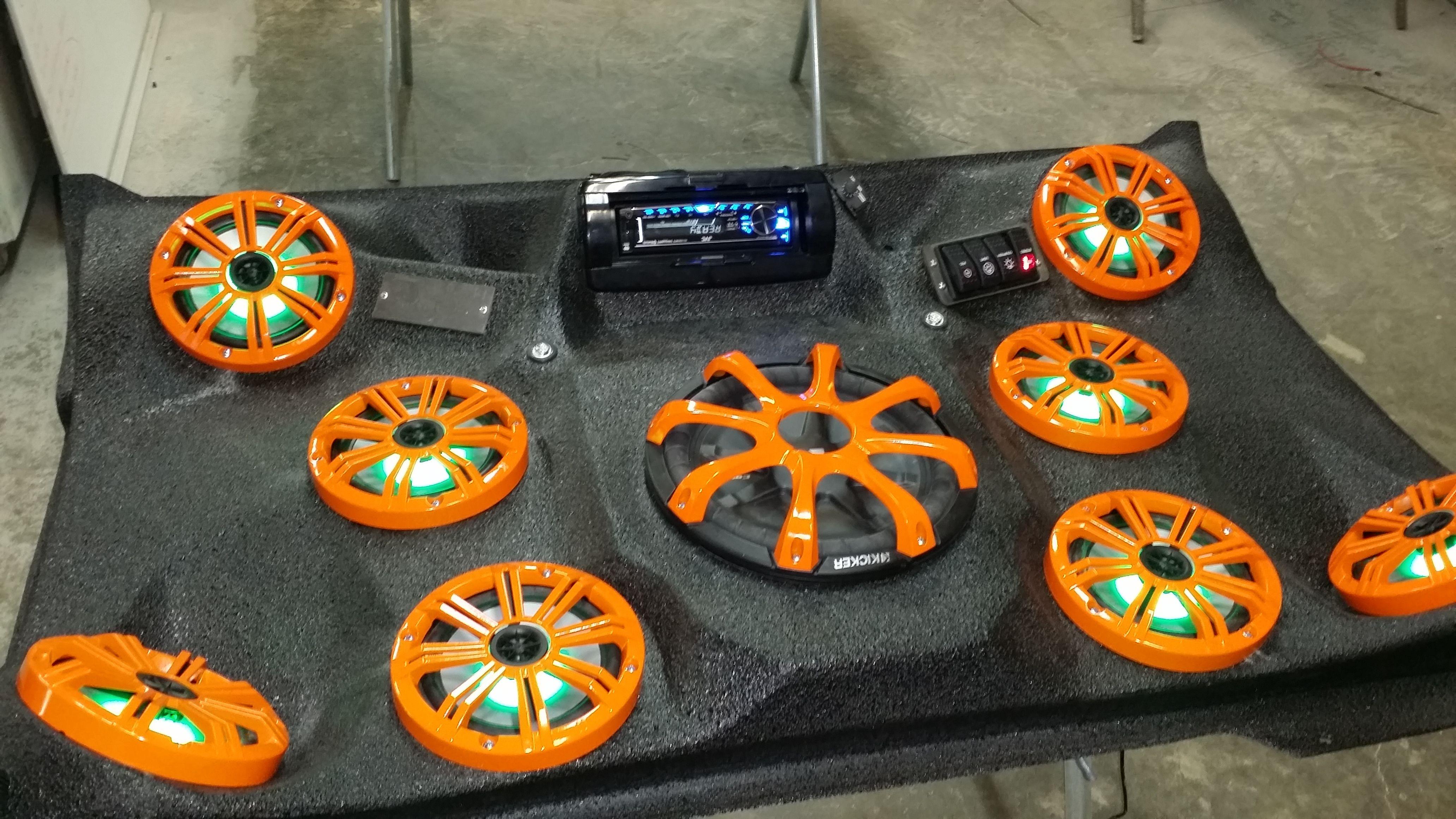 Mayhem Manufacturing Polaris 900 Audio Roof. 8-6.5 Kicker Marine and ...