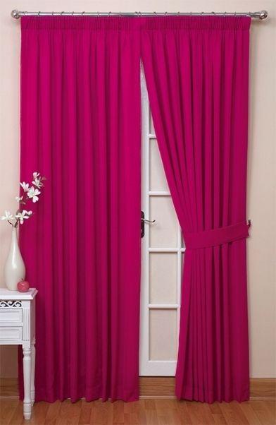 Dark Pink D Curtains Bedroom