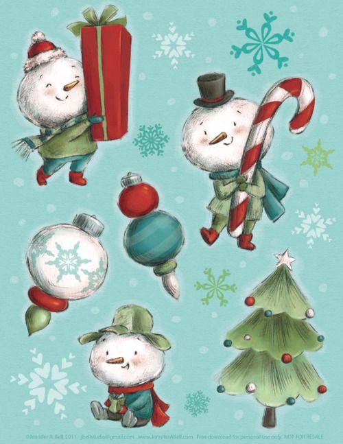 Snowman napkin!
