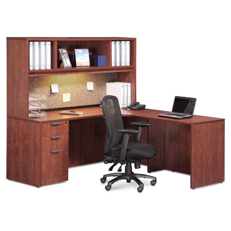 Office Furniture Corner Unit W Hutch