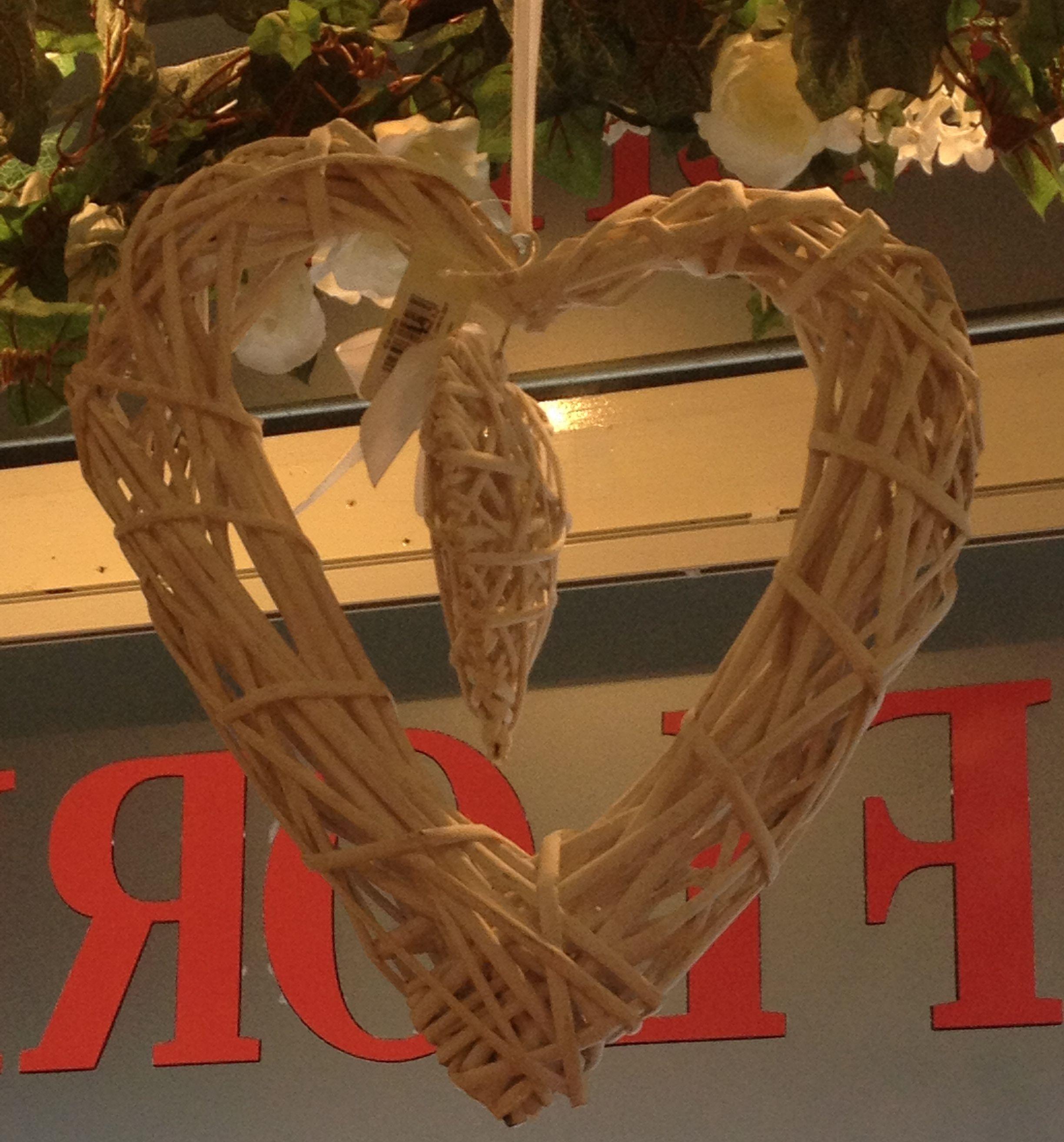 White Wicker Heart