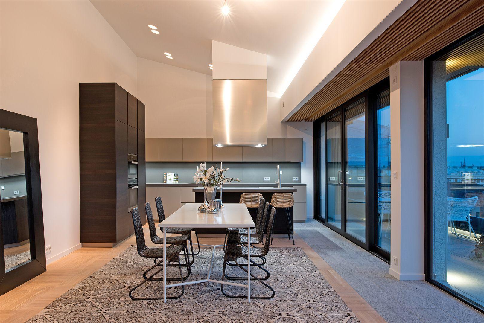 Kitchen - Penthouse med panoramavy över Stockholm - Roomly.se inredning online