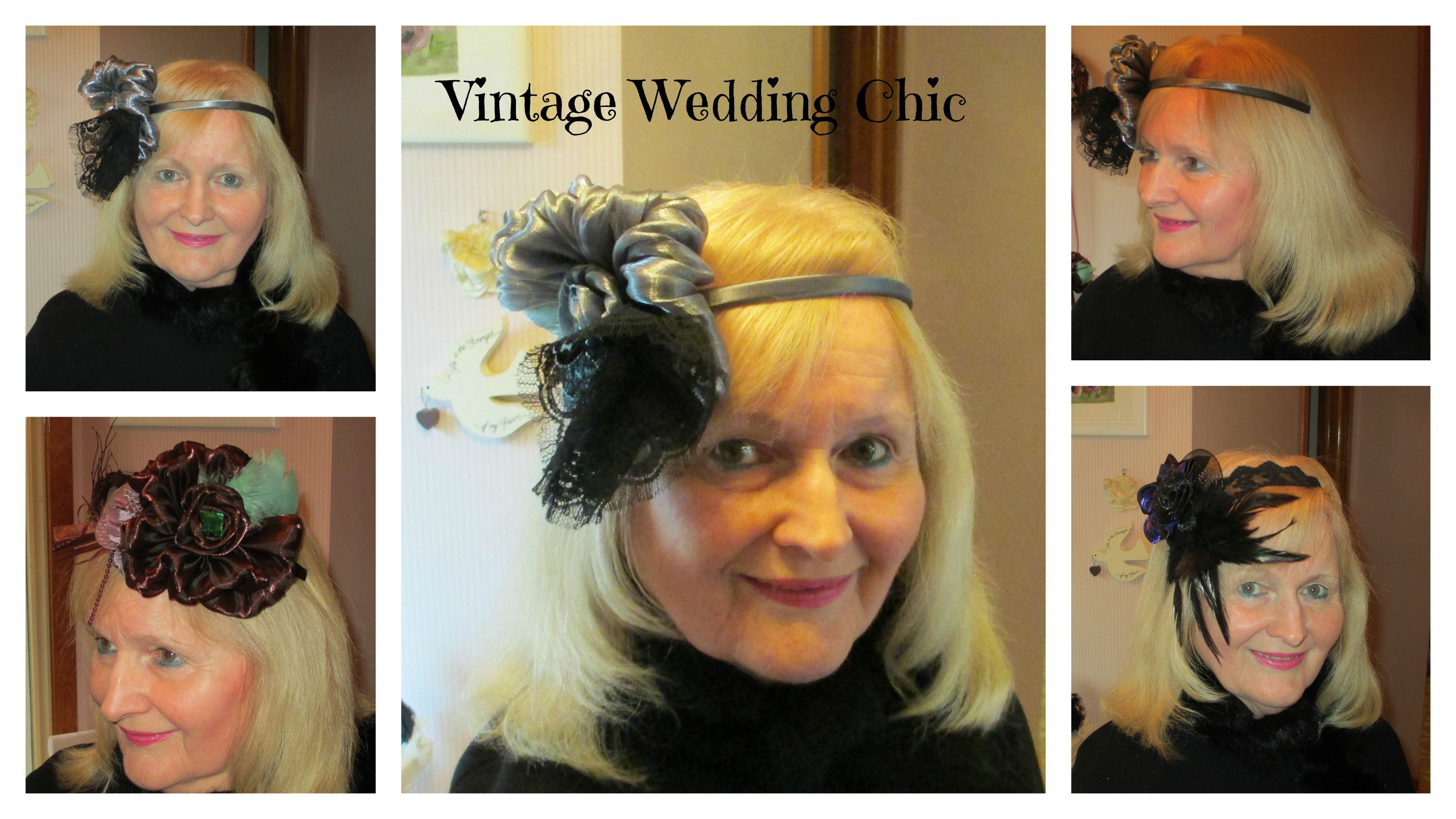 Vintage style ~ Fascinator ~ Elaborate hairstyles of the day!