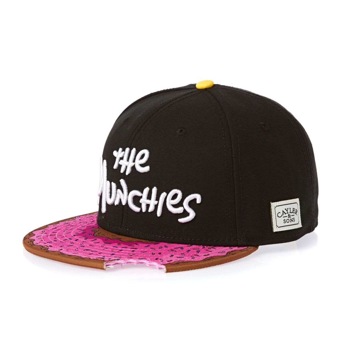 Cayler   Sons Munchies Boné - Black pink Donut white  2231faa31ad