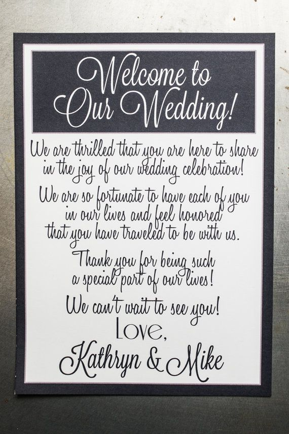 we would like to invite you celebrate our wedding in december0th%0A Wedding Welcome Bag by modernsoiree on Etsy