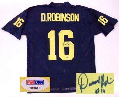separation shoes 51da9 60390 Autographed Denard Robinson Jersey - Adidas Psa dna Coa by ...