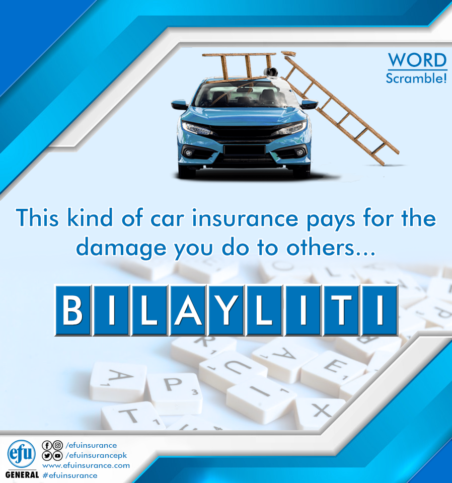 Word Scramble Guess The Correct Word This Kind Of Car Insurance