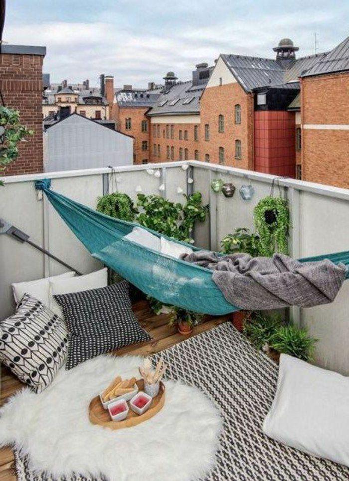 Hängematte Balkon und andere Einrichtungsideen - 15 Beispiele, wie Sie ein kleines Paradies kreieren #apartmentbalconygarden
