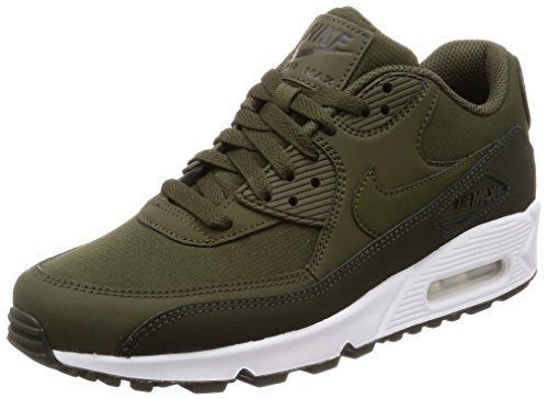 timeless design 1307b 2e3f6 Nike Air Max 90 Essential, Baskets Mode Homme, Vert (SequoiaCargo  KhakiWhite 310), 45 EU