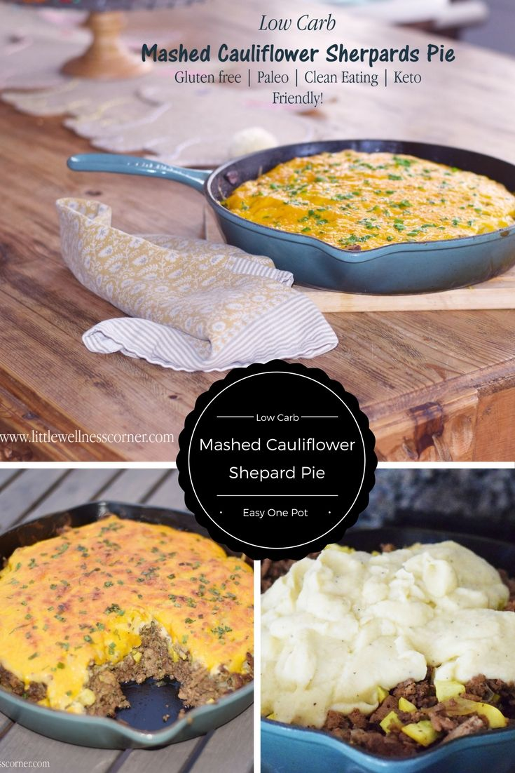 Easy and Friendly Low Carb Mashed Cauliflowe Shepards Pie. Low Carb | Keto | Paleo | Clean Eating | 21DSD approved recipe. Also great one pot meal