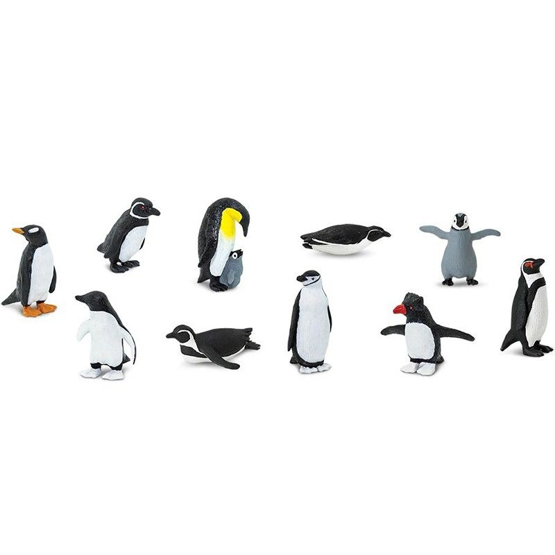 Tubo 10 Piezas De Ping Inos Safari Arctic Animals Winter Animals Penguins
