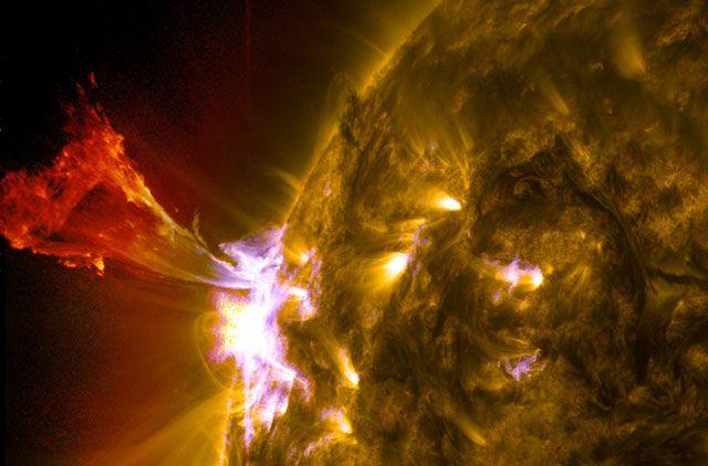 La espectacular imagen de una eyección solar.