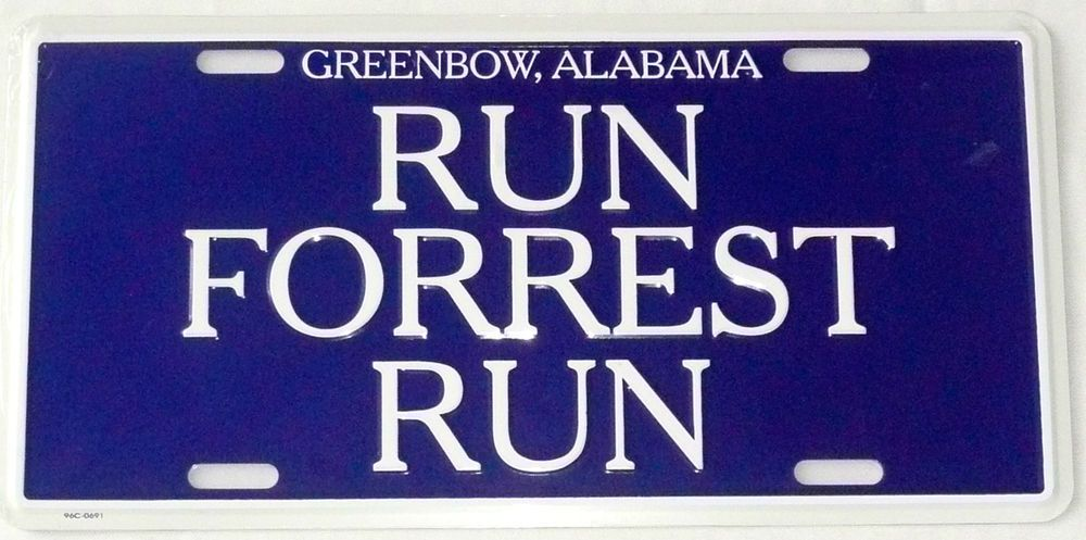 run forrest run blue ordering sign bubba gump shrimp metal license plate new license plates. Black Bedroom Furniture Sets. Home Design Ideas