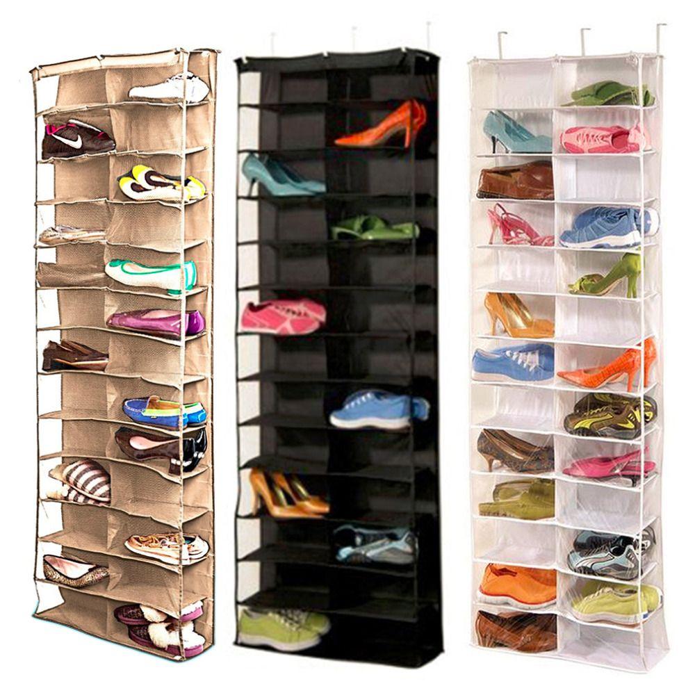 Shoe Racks And Organizers 1Pc Useful 26Pocket Shoe Rack Storage Organizer Holder Hook Folding