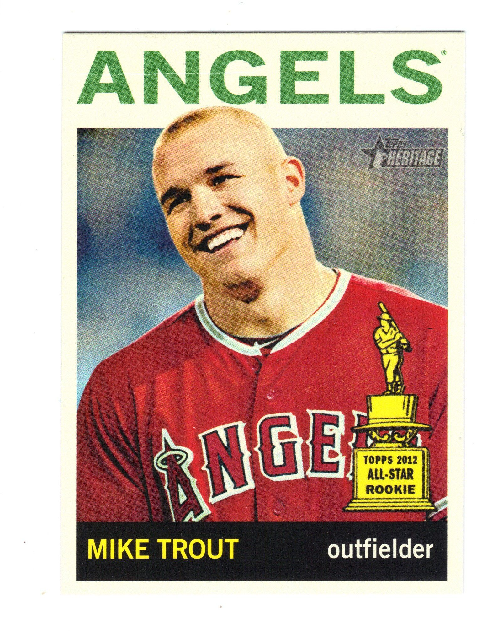 2013 topps heritage mike trout 430a sp short variation low