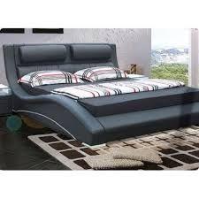 Alpha furniture Florence Italian Bed Frame - Black - King (5')