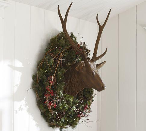 Resin Stag Head Diy Christmas Paper Indoor Christmas
