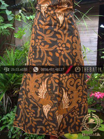 Kain Batik Cap Solo Motif Peksi Latar Hitam  Antik Batik Solo
