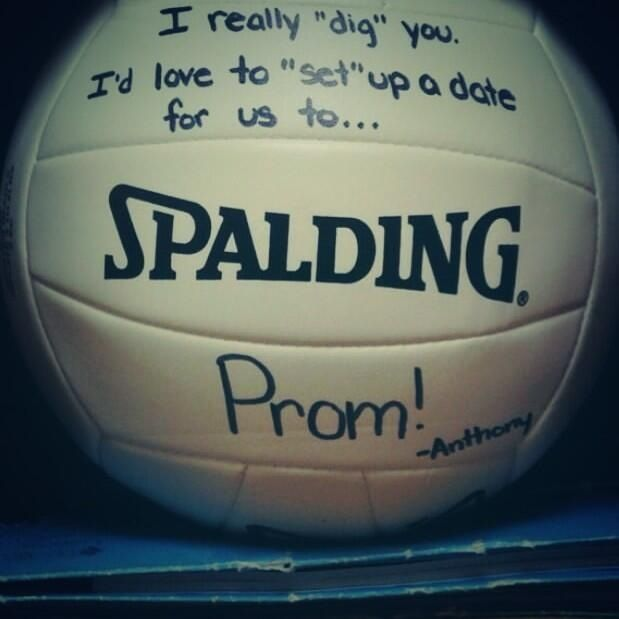 How to ask a volleyball player to prom