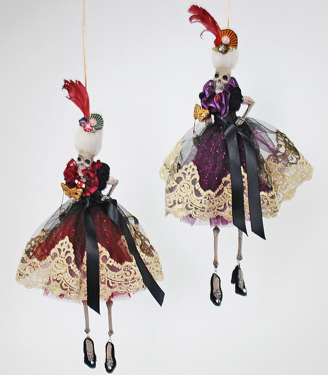 $40 Venetian Dangle Skeleton Ornaments from The Holiday Barn