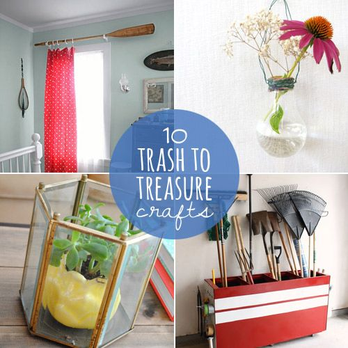 10 crafts that turn trash into treasure from diy projects crafts party diy. Black Bedroom Furniture Sets. Home Design Ideas