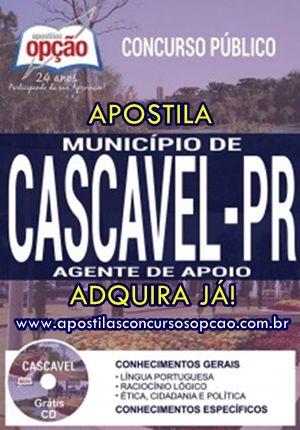 Apostila Agente De Apoio Concurso Municipio De Cascavel 2017