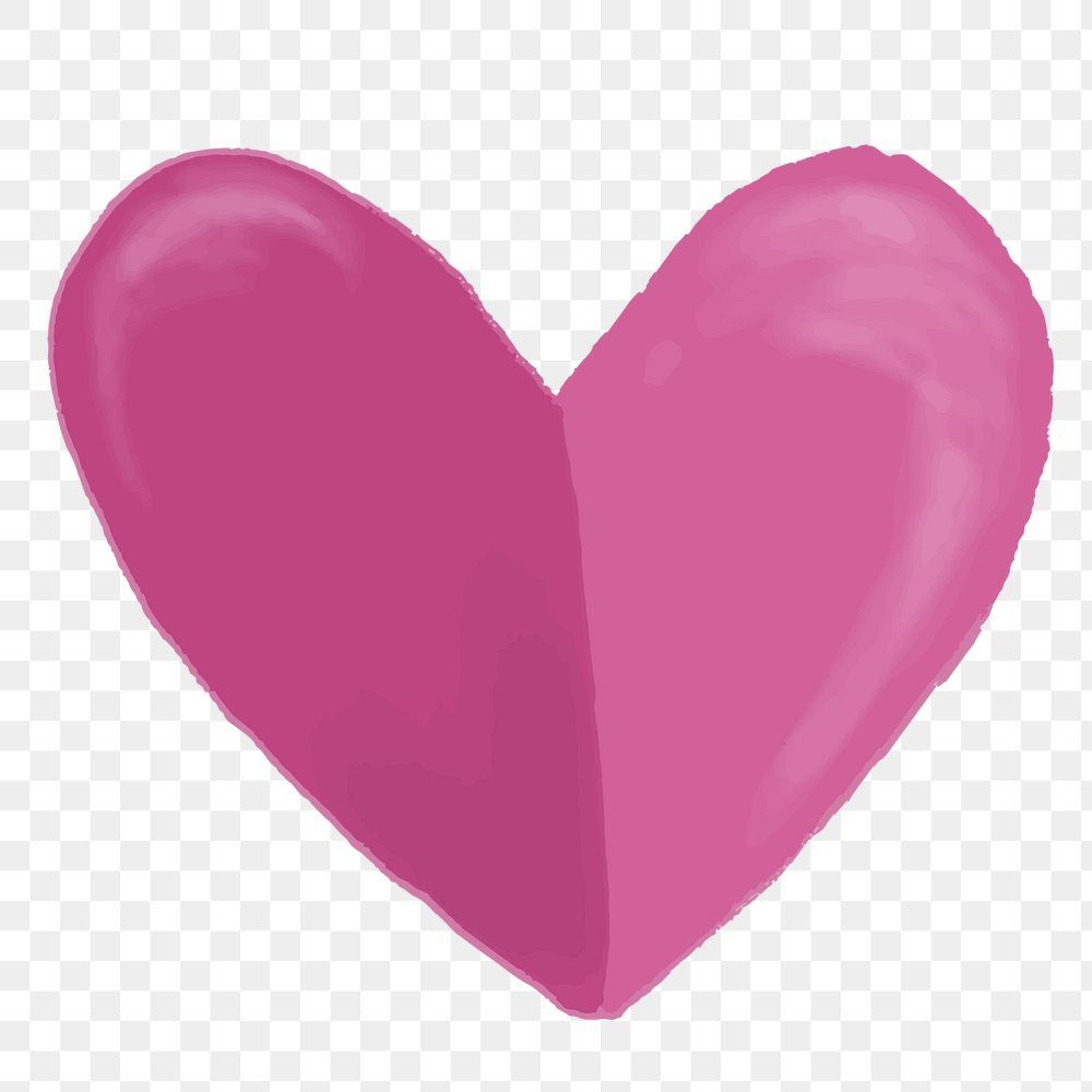 Cute Hand Drawn Pink Heart Element Free Image By Rawpixel Com Macc In 2021 How To Draw Hands Pink Heart Print Stickers