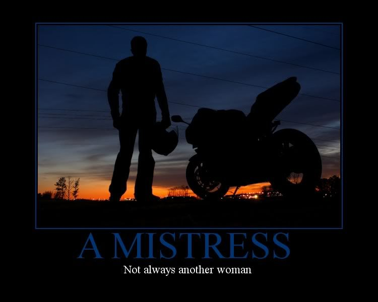 MISTRESS  Funny Motorcycle Motivation Poster