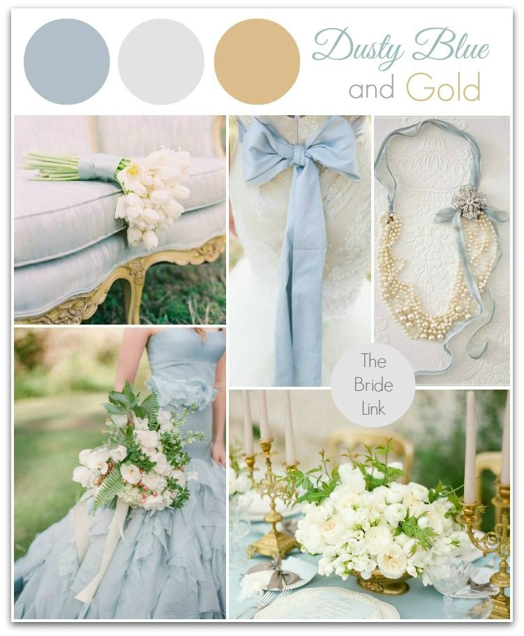 Dusty Blue And Gold Wedding Ideas I Am Head Over Heels For This Color Palette I Ve Seen Going Viral I Gold Wedding Colors Blue Gold Wedding Dusty Blue Weddings