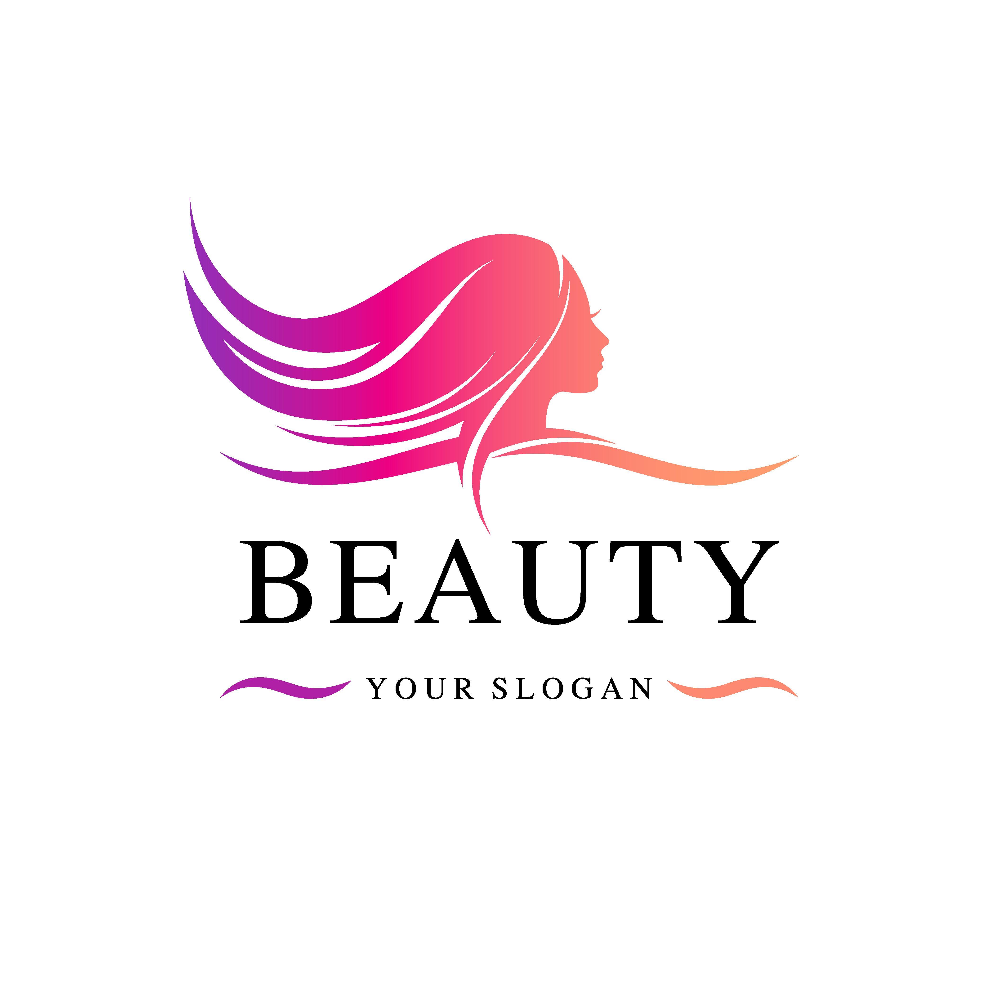 Beauty salon vector logo template (с изображениями