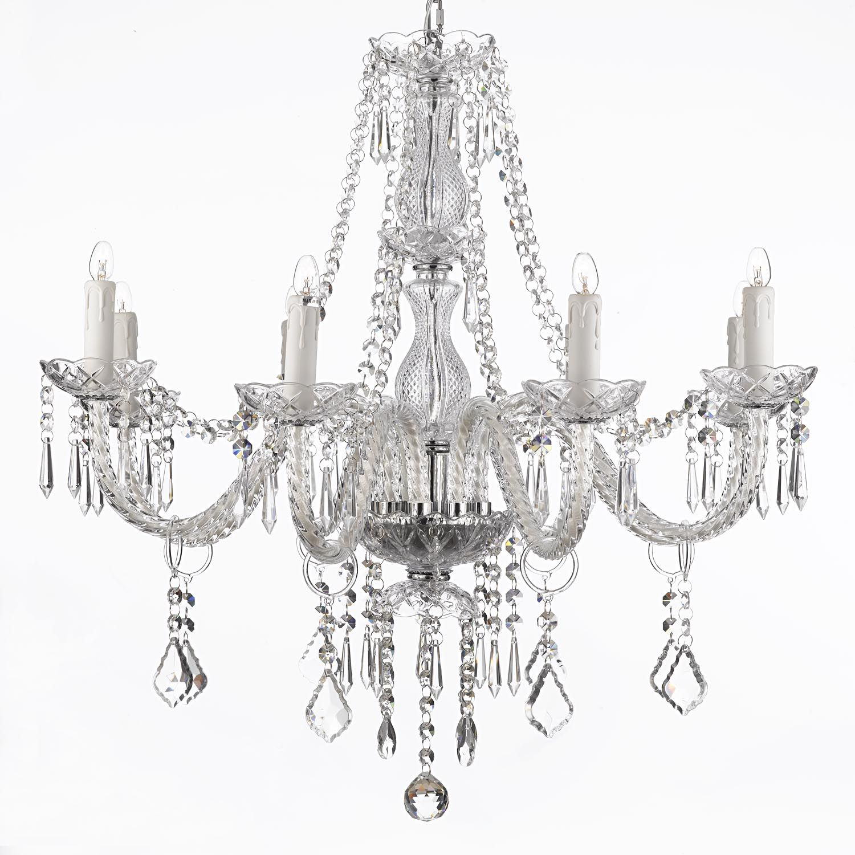 J10 2438 silver gallery murano venetian style murano venetian style all crystal chandelier lighting 8 lights fixture pendant ceiling lamp aloadofball Choice Image