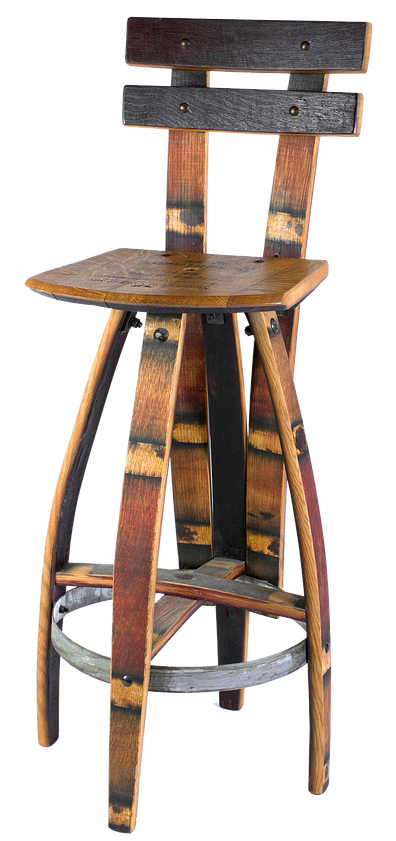 New Oak Barrel Bar Stools