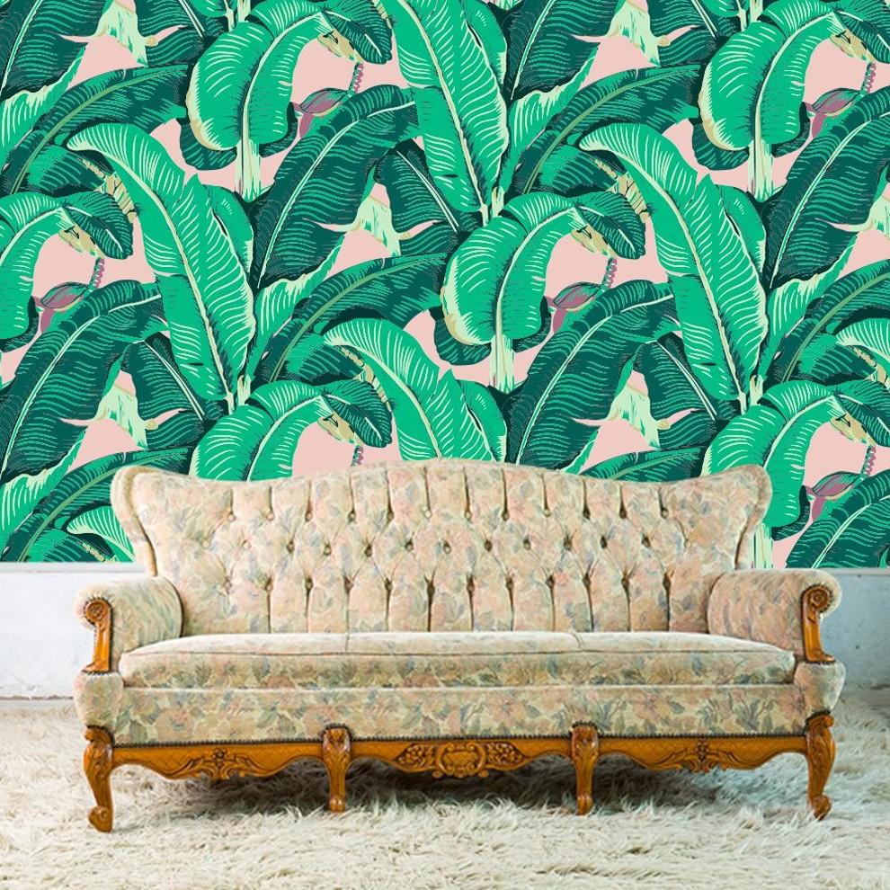 Banana Leaf Removable Wallpaper Tropical Wallpaper