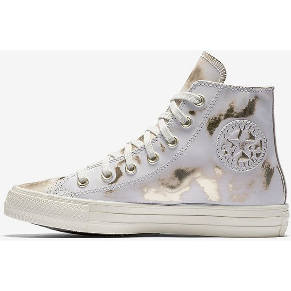 2f2e7c59f24c40 Converse Chuck Taylor All Star Brush Off Leather High Top Women s Shoe Size  11 (White) - Clearance Sale