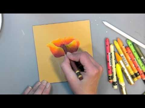 Water Color Crayon E G Neocolor Ll Video Tutorial Awesome