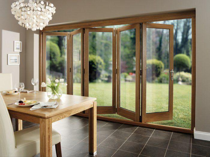 Les portes pliantes design en 44 photos! Glass extension and Facades - porte accordeon pour douche