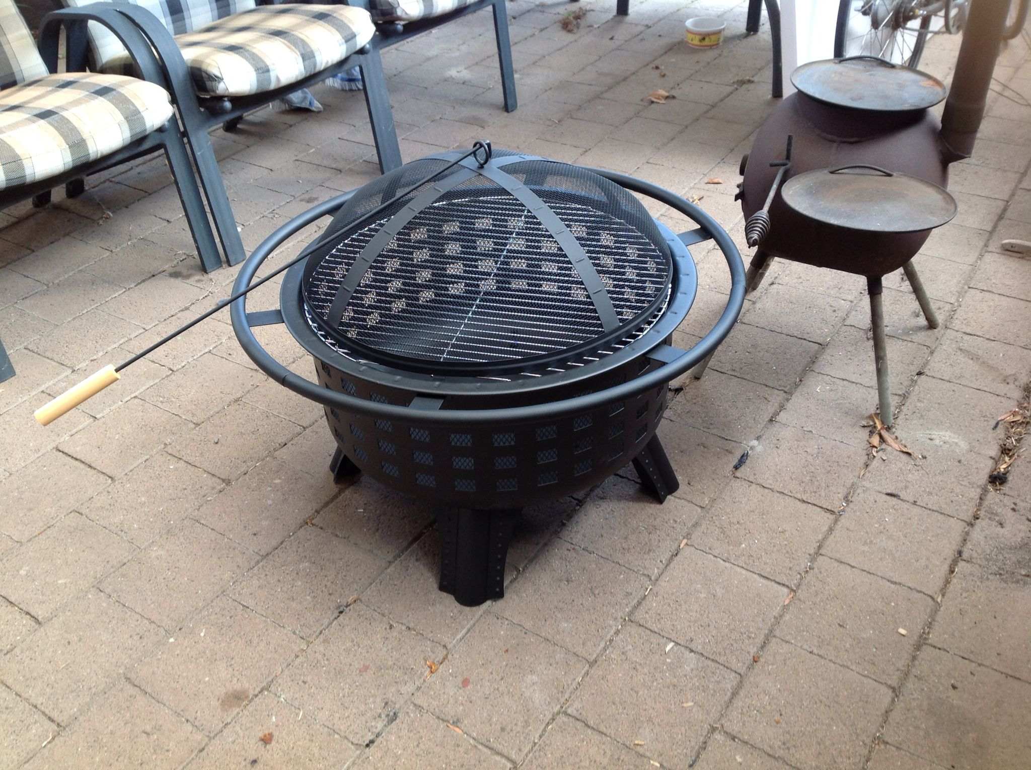 Barbecue Aldi My New Outdoor Firepit Grill 89 00 At Aldi Outdoors In 2019