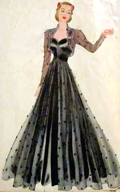 Pin von 1930s/1940s Women\'s Fashion auf 1930s Evening Wear 1 | Pinterest