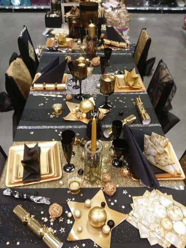 Декор стола на Новый 2021 год – новогодняя сервировка ...