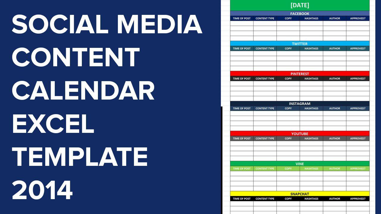 Social Media Calender Template Excel 2014 Social Media Calendar Template Social Media Content Calendar Template Social Media Calendar Social media post scheduler template