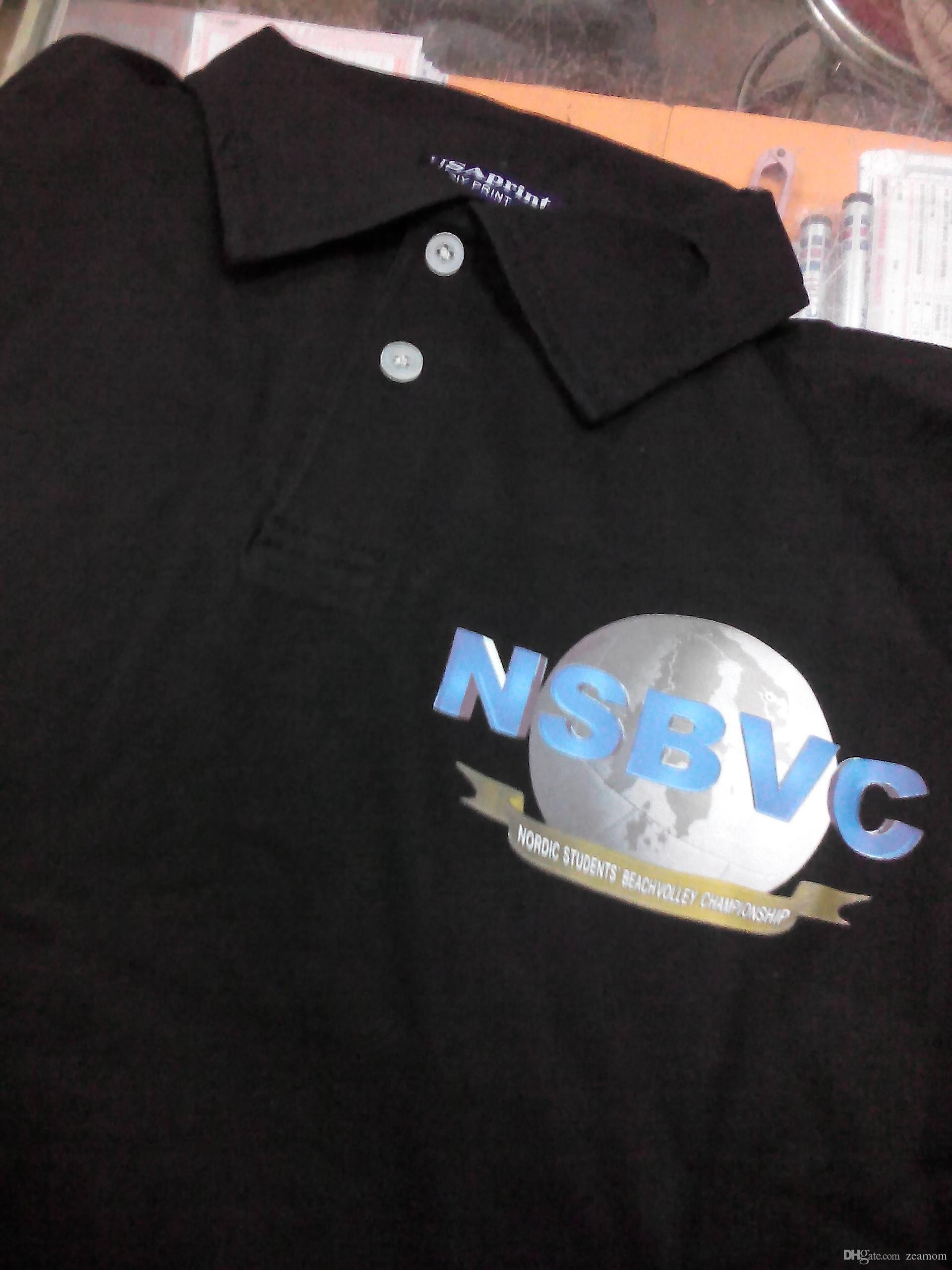 5cf31dbe8 Heat transfer printing Polo shirt Cotton men Customize shirts Silk screen  LOGO printed advertising shirt custom design