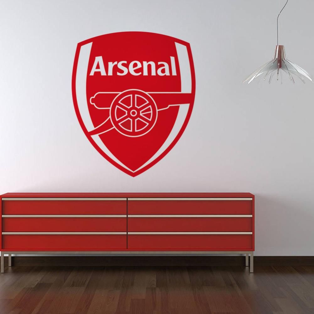 arsenal football club wall art logo crest wall stickers on wall logo decal id=30247