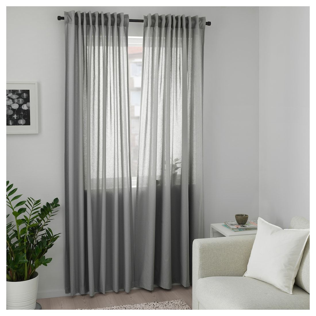 Annalouisa Curtains 1 Pair Gray 57x98 Ikea Living Room Decor Curtains Curtains Curtains Living Room