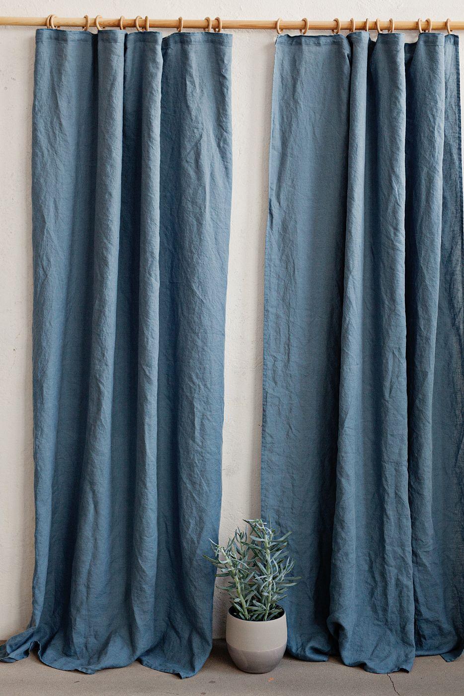 Pencil Pleat Linen Curtain Panel Cortinas Para Cozinha Casa