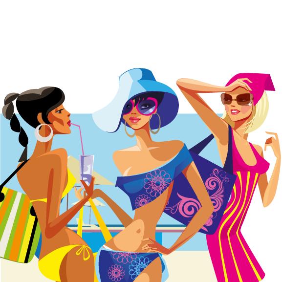 272256bd6655 Chicas en bañador y vestidas para el baño en 2019 | LINA | Bañadores ...
