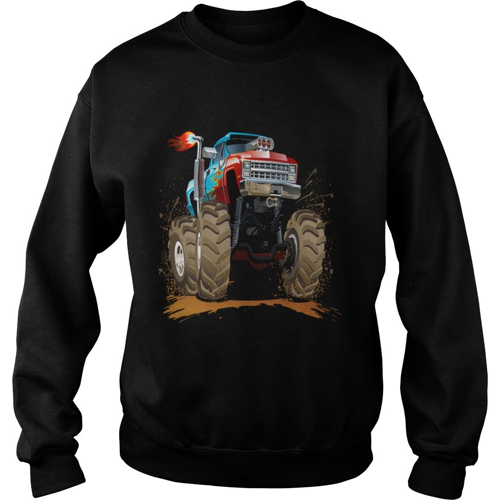 large Jeep SUV Monster Truck car vector cartoon - Mens Premium T ...